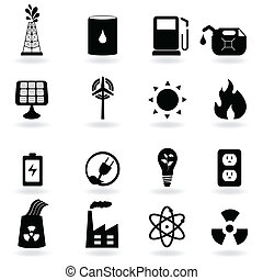 Eco, clean energy and environment - Eco icons for clean...
