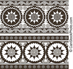 repeated circular floral background pattern