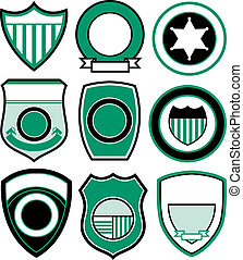emblem badge shield set - emblem badge shield template set