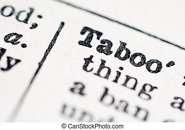 Taboo word in dictionary macro view