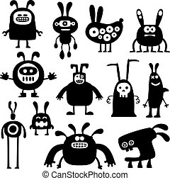 crazy rabbits set04 - collection of funny cartoon rabbit...