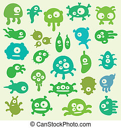 Germs - collection of cartoon germs