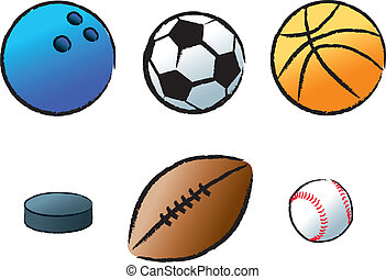 Various Sports - The objects used in various popular sports