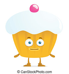 Funny Cake - illustration of cartoon funny cake isolated on...