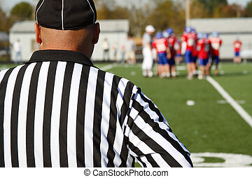 Referee at a football game