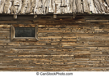 Weatherd Barn and Window - Old Weathered Barn with great...