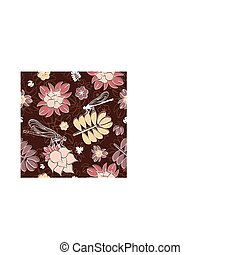 seamless floral background - abstract cute seamless floral...