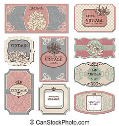retro vintage labels - set of retro vintage labels vector...
