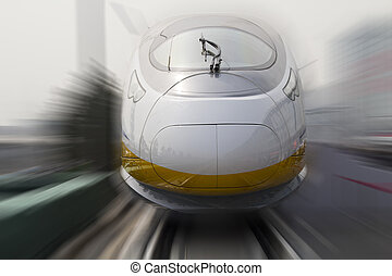 bullet trains - Modern high speed bullet train in China
