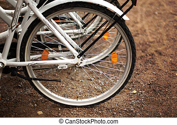 bicycles close up
