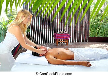 Massage therapy physiotherapy reiki in jungle cabin latin...