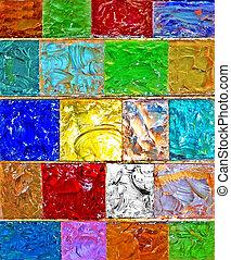 mosaic   - glassy pattern