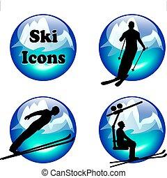 ski icons