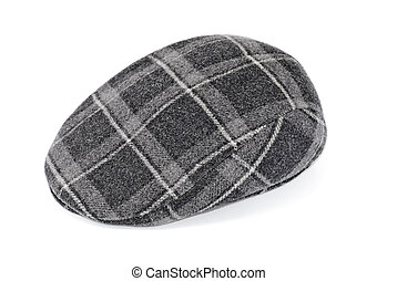 cap with a white background