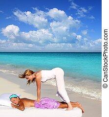 Caribbean beach massage shiatsu waist therapy - Caribbean...