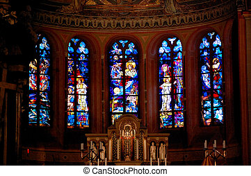 Bonn, Germany - Stained Glass in the Minster of Bonn