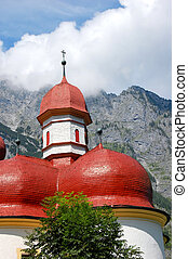 Berchtesgaden, Germany - Monastery of StBartholomae in...