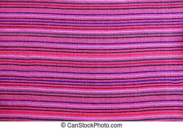 Mexican serape vibrant pink macro fabric texture background