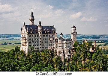 Neuschwanstein, castelo, Alemanha