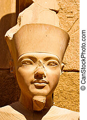 Egyptian statue at Luxor - Detail of a statue from Luxor...