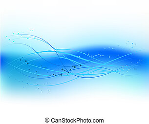 Blue abstract wave design