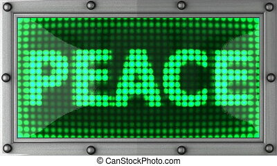 peace announcement on the LED