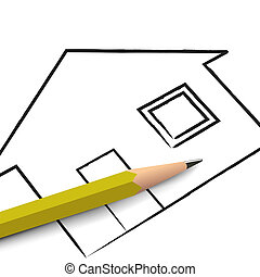 Real Estate - Illustration of real estate concept