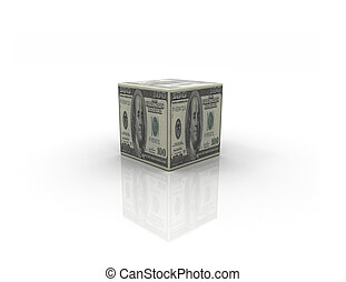Money box on white background