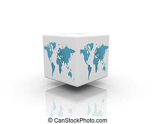 world box on white background