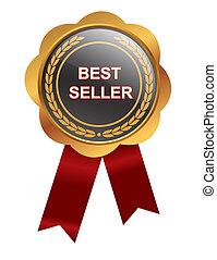 Bestseller medal on white background