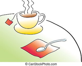 Tea Time - A cup of Tea. Remove the string and it becomes a...