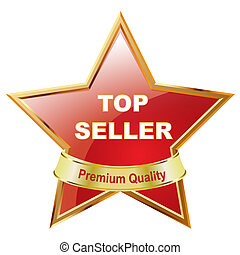 Top Seller - Illustration of Shiny Top Seller Star