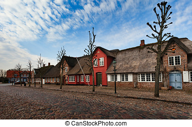 Mainstreet in Danish village - M?gelt?nder is known for the...