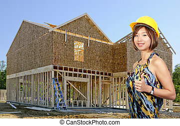 Asian Female Construction Worker - A beautiful Asian Female...