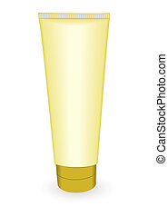Gold make up tube