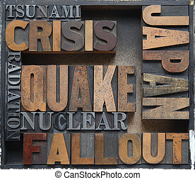 Japan disaster crisis words - words related to Japan's...
