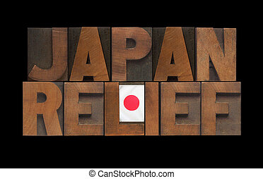 Japan relief with flag