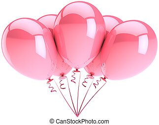 Five balloons pink decoration