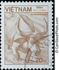 切手,  -,  1984:, 水, ベトナム, 動物, 野生, ∥ころ∥, バッファロー