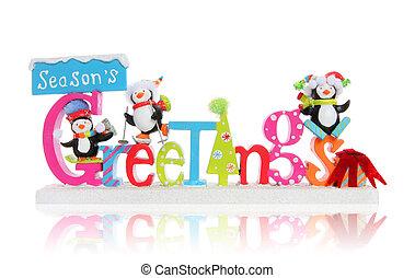 Christmas Season's Greeting Sign - A Christmas Season's...