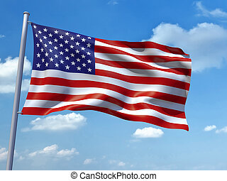 United States of America flag - An image of the United...
