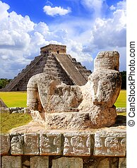 Ancient Chac Mool Chichen Itza figure Mexico - Ancient Chac...