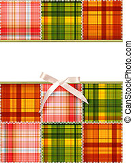 Patchwork - Background with tailored slices of a fabric in...