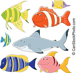 Vector collection of fish