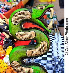 Chichen Itza serpent Mayan snake handcraft Mexico