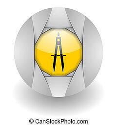 study steel glosssy icon