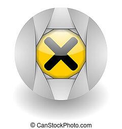 cancel steel glosssy icon