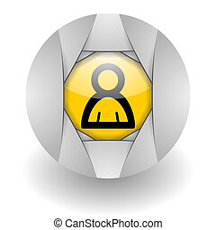 friend steel glosssy icon