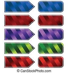 Striped Button Set