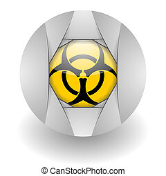 biohazard steel glosssy icon